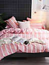 Duvet Cover Sets Luxury / Stripes / Ripples / Contemporary Polyster Printed 4 PieceBedding Sets