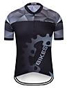 TELEYI Męskie Krótki rękaw Koszulka rowerowa - Czarny Rower Dżersej Top Szybkie wysychanie Sport Terylen Kolarstwo górskie Kolarstwie szosowym Odzież / Średnio elastyczny