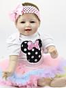FeelWind Lebensechte Puppe Baby Jungen Baby Maedchen 22 Zoll Silikon - Kinder /  Jugendliche bezaubernd lieblich Kinder Unisex Spielzeuge Geschenk