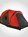 LONGSINGER 2 osoby Rodinné kempování stan Outdoor Větruvzdorné Odolná proti UV záření Odolné vůči dešti dvouvrstvé Tyč Camping Tent >3000 mm pro Kempování a turistika 360*135*115 cm