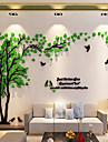 Ozdobné samolepky na zeď - 3D samolepky na zeď / Nálepky na zeď zrcadlové Květinový / Botanický motiv Vevnitř / Snímatelné