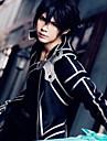 Inspirat de SAO Swords Art Online Kirito Anime Costume Cosplay Japoneză Costume Cosplay Mată Manșon Lung Pantaloni / Mănuși / Manta Pentru Bărbați / Pentru femei