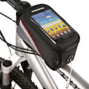 ROSWHEEL Bike Frame Bag Cell Phone Bag 4.2 inch Waterproof Zipper Water Bottle Pocket Dust Proof Phone/Iphone Touch Screen Cycling for