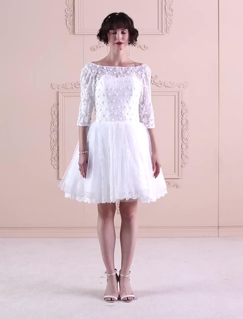Платье из тюли мини