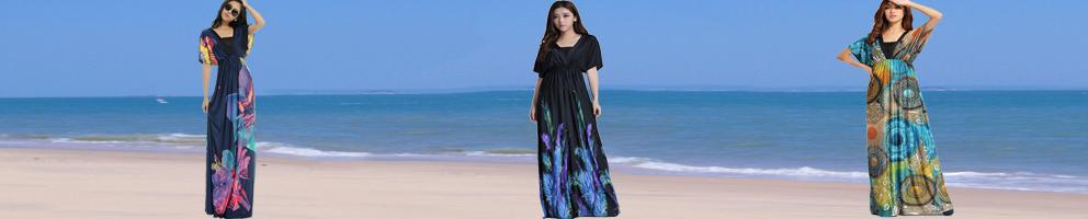 morefeel zomer maxi strand jurk