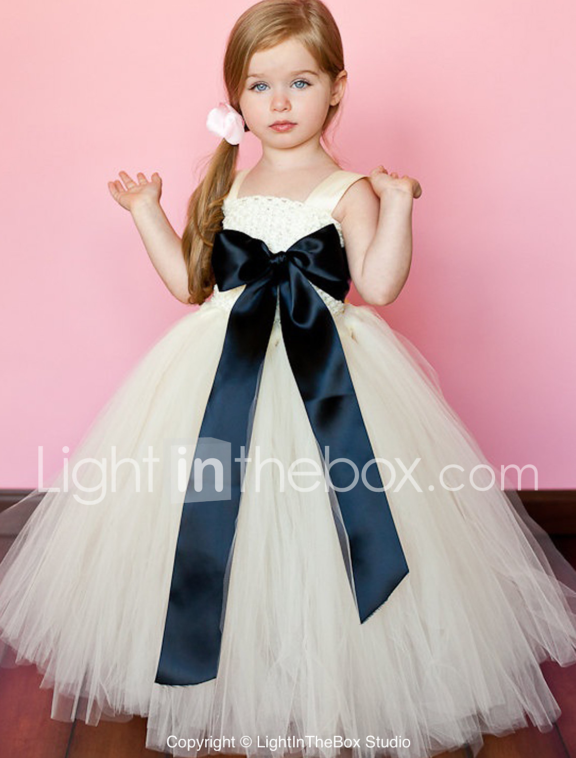 49fcb0e57b0 Ball Gown Ankle Length Flower Girl Dress - Polyester   Tulle Sleeveless  Spaghetti Strap with Sash   Ribbon by  04516747